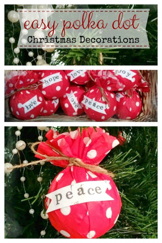 How To Make A Christmas Decor Using Paper : Easy polka dot christmas decorations raggedy bits