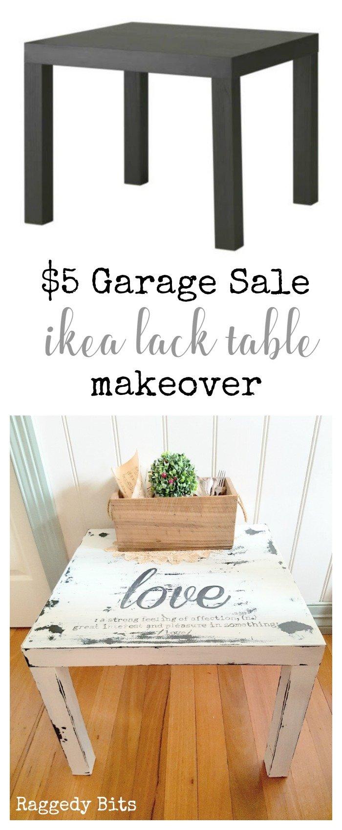 the 5 garage sale ikea lack table make over. Black Bedroom Furniture Sets. Home Design Ideas