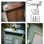 French Script Side Table
