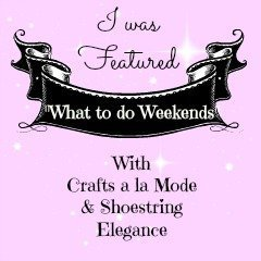 Shoestring Elegance - What to do Weekends
