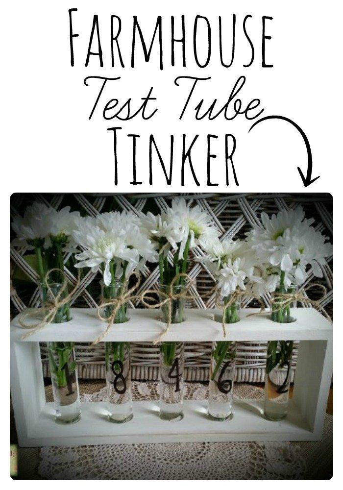 Make your own DIY Farmhouse Test Tube Vase |www.raggedy-bits.com