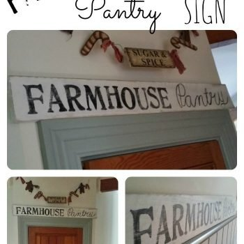 Make your own Pallet Farmhouse Pantry Sign | www.raggedy-bits.com
