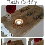 DIY Rustic Pallet Bath Caddy