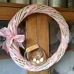 Thrifted Vintage Sieve Easter Wreath | www.raggedy-bits.com