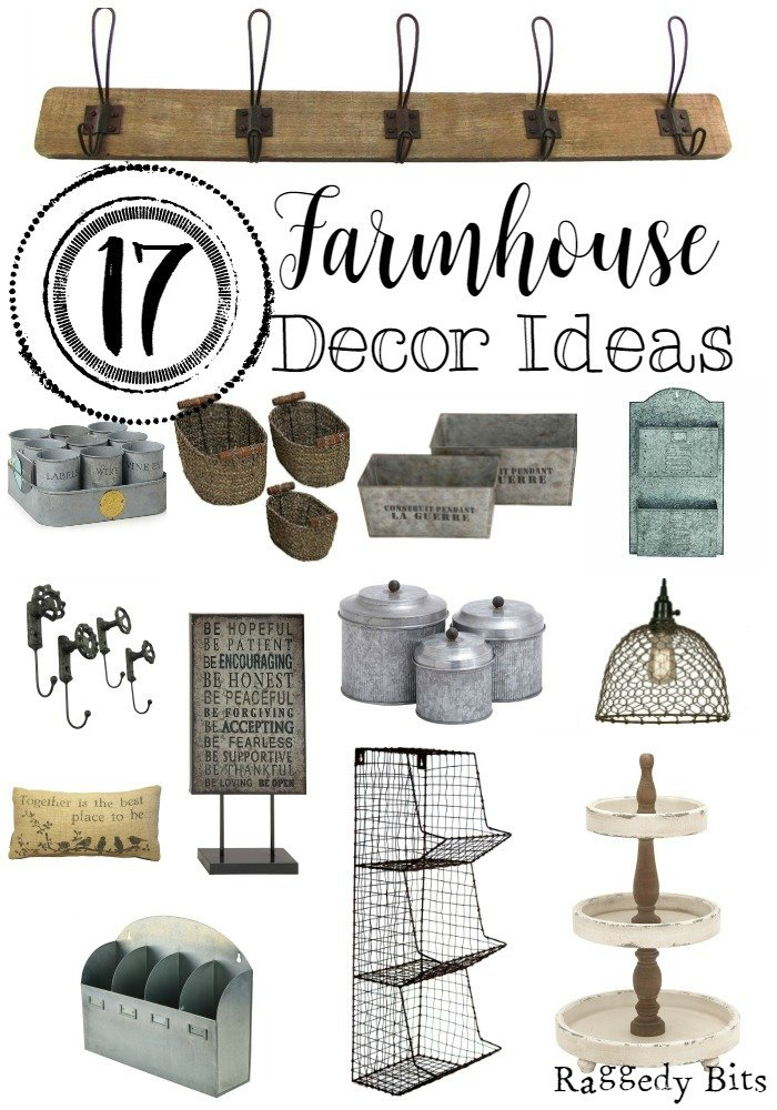 A collection of 17 gorgeous Farmhouse Decor Ideas all in one spot |www.raggedy-bits.com