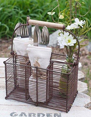 Farmhouse Cutlery Carrier |www.raggedy-bits.com