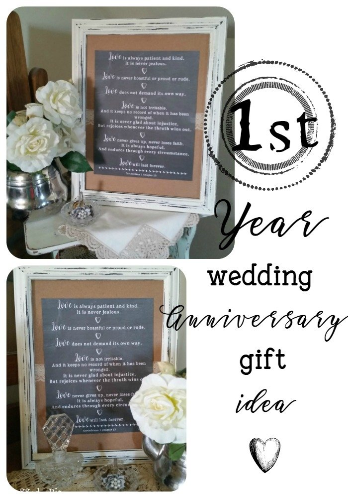 Diy wedding anniversary gift idea for 1st year wedding anniversary gift