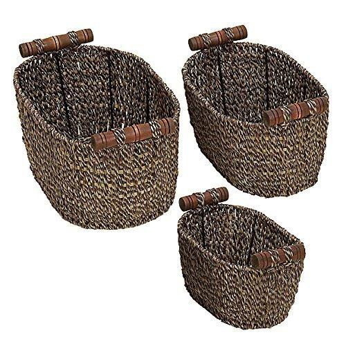 Farmhouse Seagrass Baskets |www.raggedy-bits.com