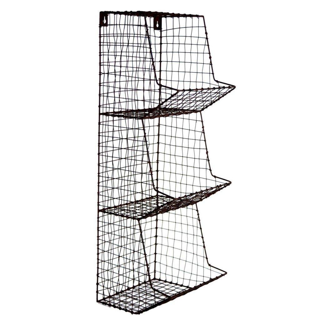 Farmhouse Wire Wall Storage Bins |www.raggedy-bits.com