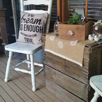 See how I used lots of repurposed goodies for our Front Porch Makeover | www.raggedy-bits.com