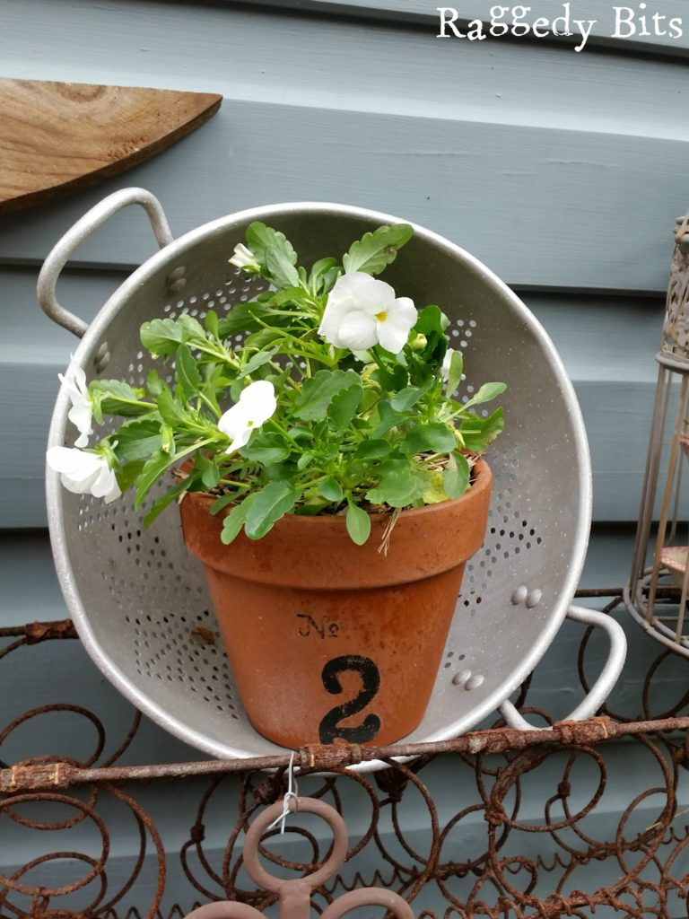 See how I turned a kerbside found mattress into a Rusty Spring Sweet Pea Garden | www.raggedy- bits.com