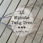 10 Minute Twig Tree using Vintage Doily's