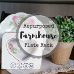 Repurposed Farmhouse Plate Rack