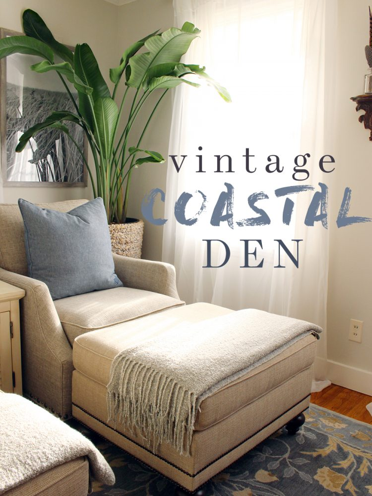 Vintage Coastal Den which is a feature from Waste Not Wednesday-10 by Indigo & Honey | www.raggedy-bits.com