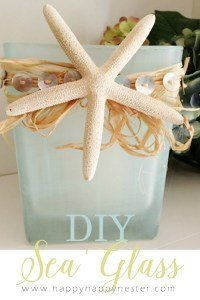 DIY Sea Glass which is a feature from Waste Not Wednesday-11 by Happy Happy Nester  www.raggedy-bits.com