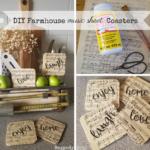 DIY Farmhouse Music Sheet Coasters