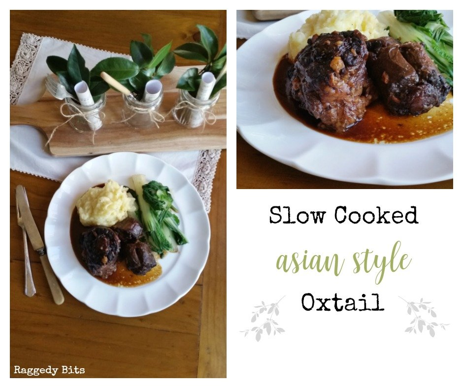 A delicious Slow Cooked Asian Style Oxtail recipe for an easy meal. Full Recipe | www.raggedy-bits.com