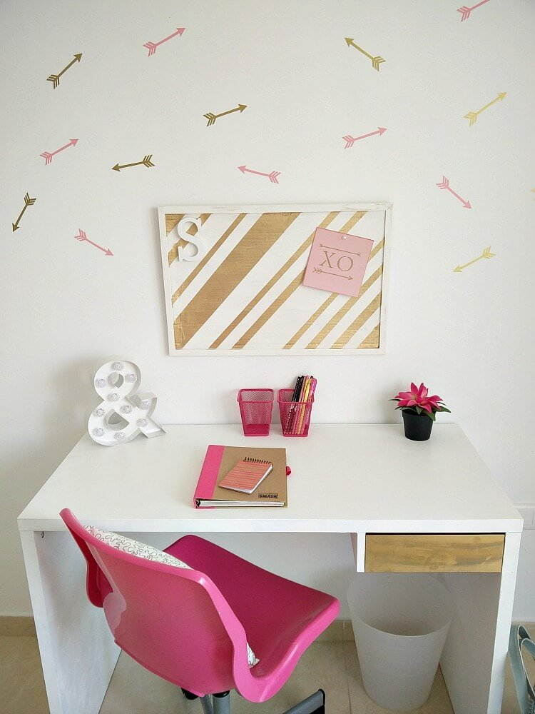 Back to School Desk Makeover which is a feature from Waste Not Wednesday-15 by KreativK | www.raggedy-bits.com