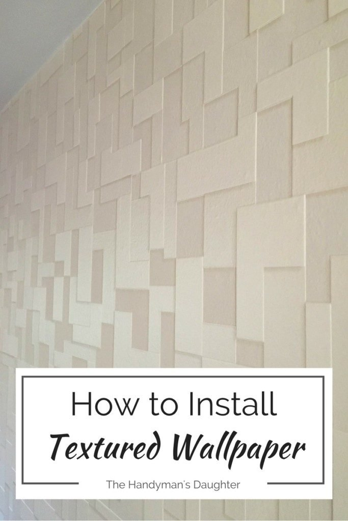 How to Install Textures Wall Paper which is a feature from Waste Not Wednesday-17 by Handymans Daughter | www.raggedy-bits.com