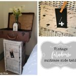 Vintage Farmhouse Suitcase Side Table