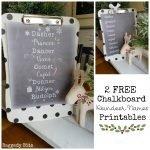 2 FREE Chalkboard Reindeer Names Printables