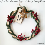 Simple Farmhouse Embroidery Hoop Wreath
