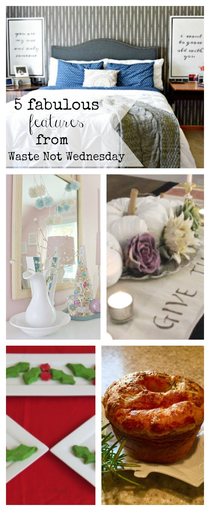 Features from our fun Waste Not Wednesday-25 DIY, Craft, Home Decor and Recipe party this week! Be sure to join us and share your DIY, Craft, Home Decor and favourite recipes! | www.raggedy-bits.com | www.mythriftyhouse.com | www.smallhomesoul.com | www.gratefullyvintage.com