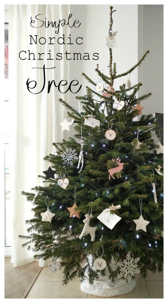 Simple Nordic Christmas Tree which is a feature from Waste Not Wednesday-29 by KreativK | www.raggedy-bits.com
