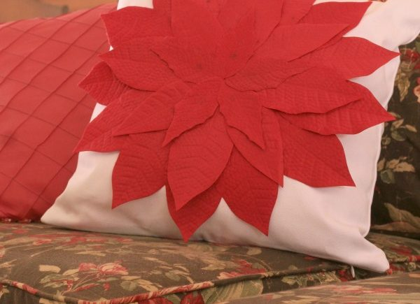 A Christmas Pillow as Easy as One, Two, Three which is a feature from Waste Not Wednesday-30 by Shoppe No 5   www.raggedy-bits.com