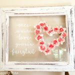 DIY Farmhouse Paper Rose Fairy Tale Frame