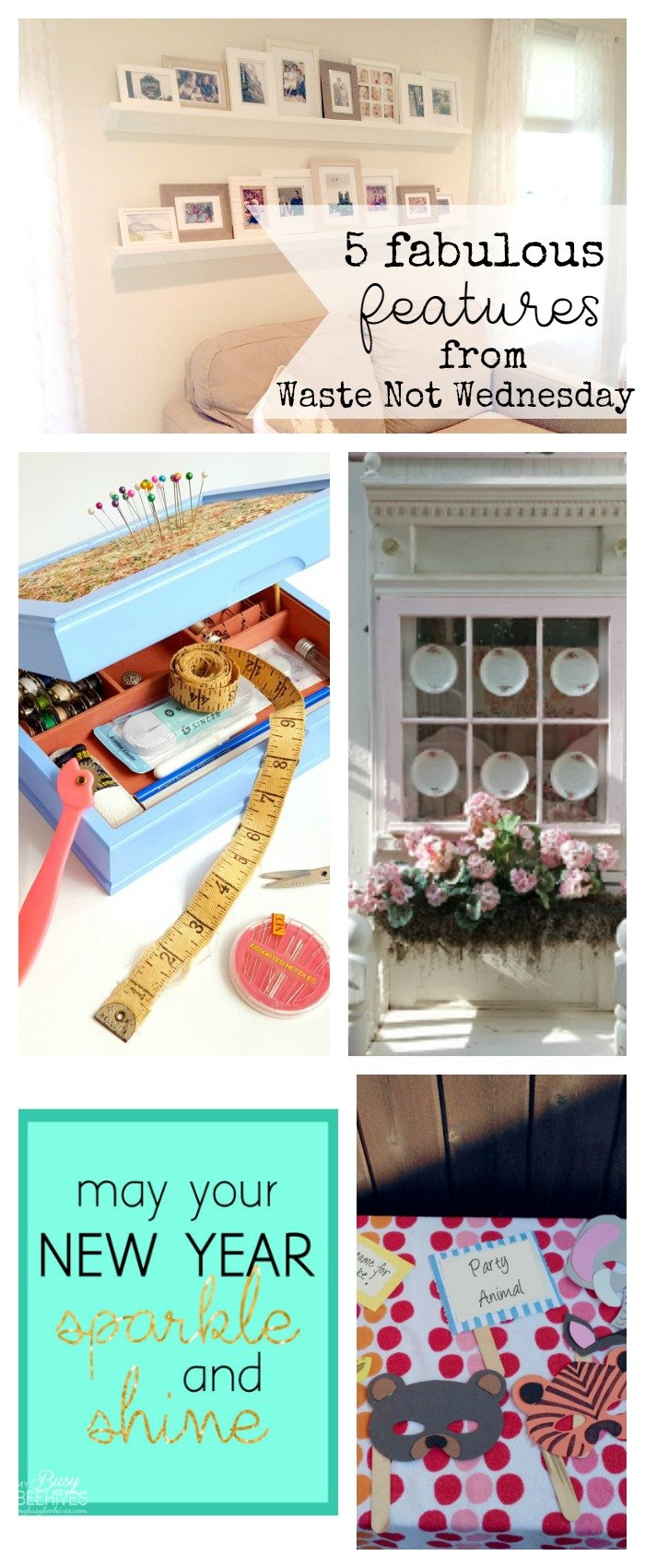 Features from our fun Waste Not Wednesday-32 DIY, Craft, Home Decor and Recipe party this week! Be sure to join us and share your DIY, Craft, Home Decor and favourite recipes! | www.raggedy-bits.com | www.mythriftyhouse.com | www.smallhomesoul.com | www.gratefullyvintage.com