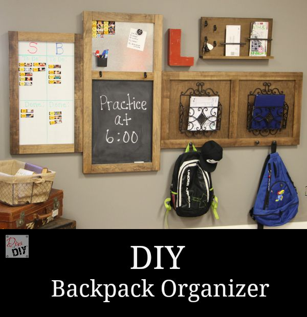 DIY Backpack Organiser which is a feature from Waste Not Wednesday-33 by Diva of DIY | www.raggedy-bits.com