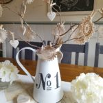 Farmhouse Clay Heart Twig Tree