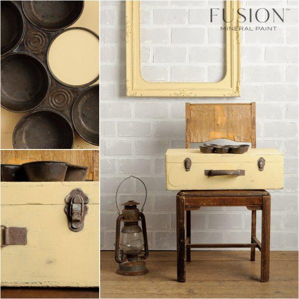 Fusion Mineral Paint - Butter Milk Cream | www.raggedy-bits.com