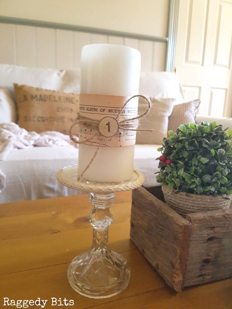 Repurposed Vintage Farmhouse Candle Holders