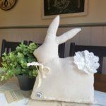 Vintage Farmhouse Drop Cloth Bunny