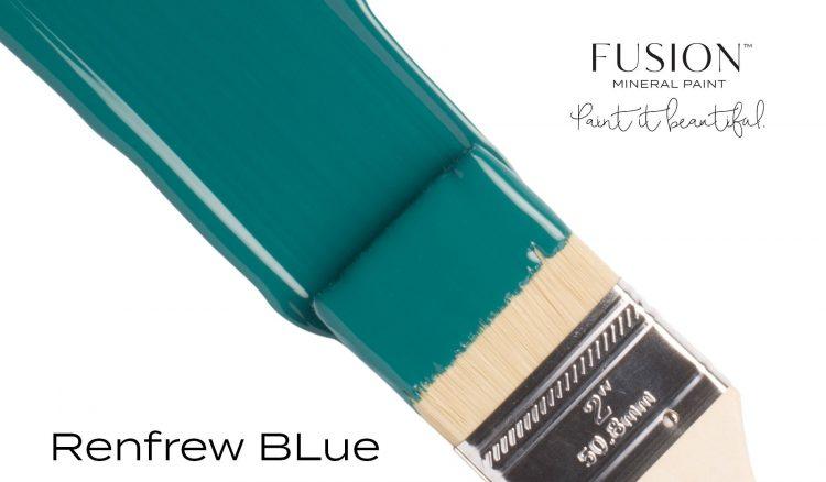 Fusion Mineral Paint Brushstroke - Renfrew Blue | www.raggedy-bits.com