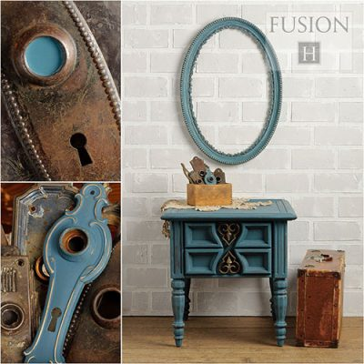 Fusion Mineral Paint - Homestead Blue | www.raggedy-bits.com