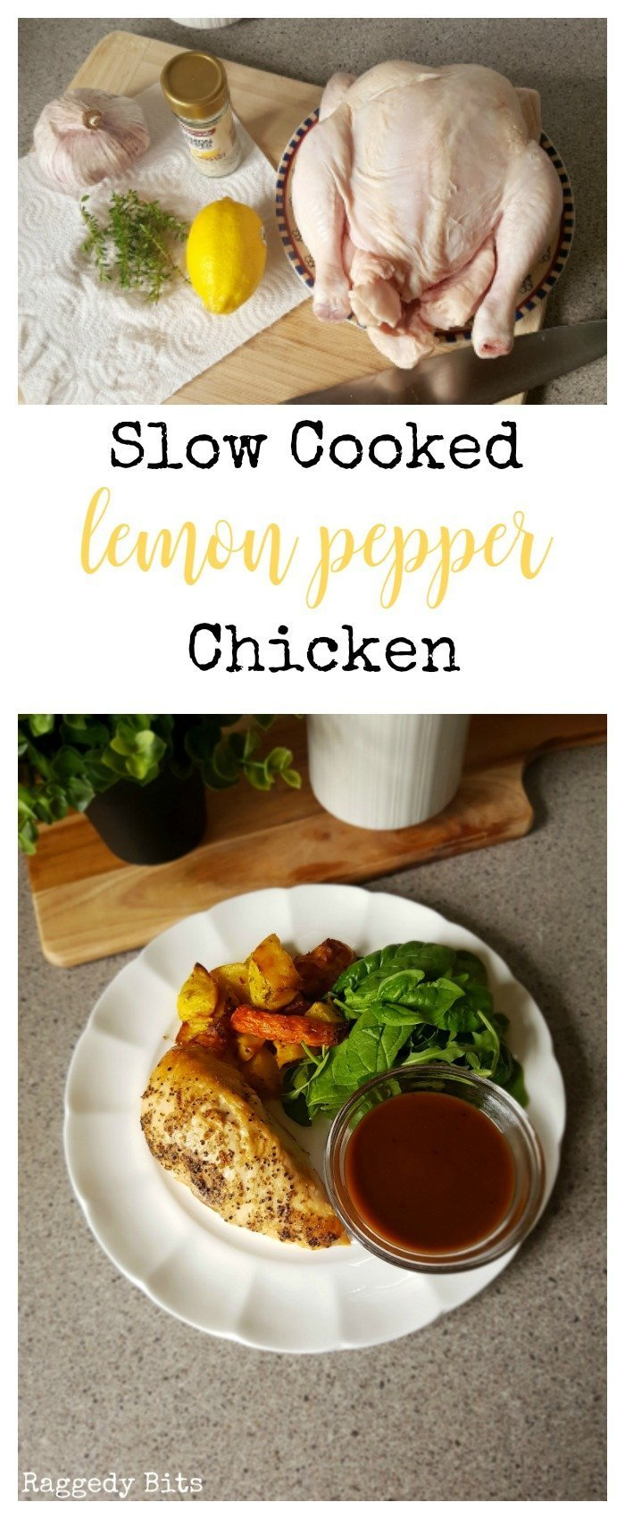 Sharing an all time Slow Cooked Lemon Pepper favourite recipe of my families to enjoy all year round. For a Sunday night roast served with salad or roasted vegetables or serve cold and take along for a family picinic | Printable recipe | www.raggedy-bits.com