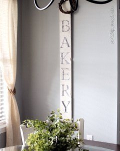 DIY Vintage Bakery Sign which is a feature from Waste Not Wednesday-46 by Repurpose and Upcycle | www.raggedy-bits.com