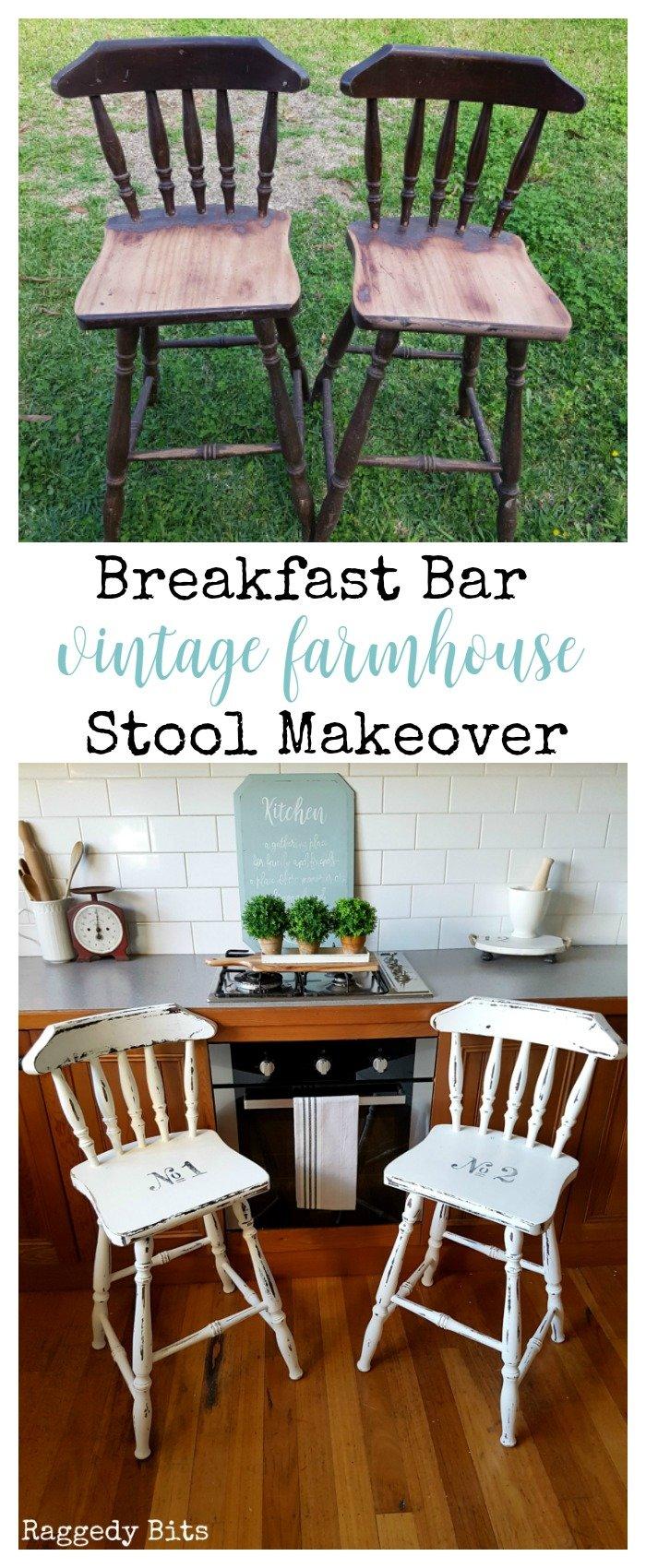 Breakfast Bar Vintage Farmhouse Stool Makeover Raggedy Bits : Breakfast Bar Vintage Farmhouse Stool Makeover PIN from raggedy-bits.com size 700 x 1700 jpeg 345kB