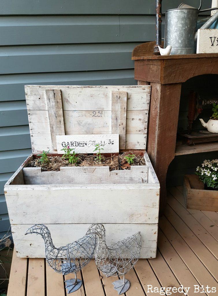 Sharing our fun Vintage Farmhouse Garden Tour that won't break the bank   www.raggedy-bits.com