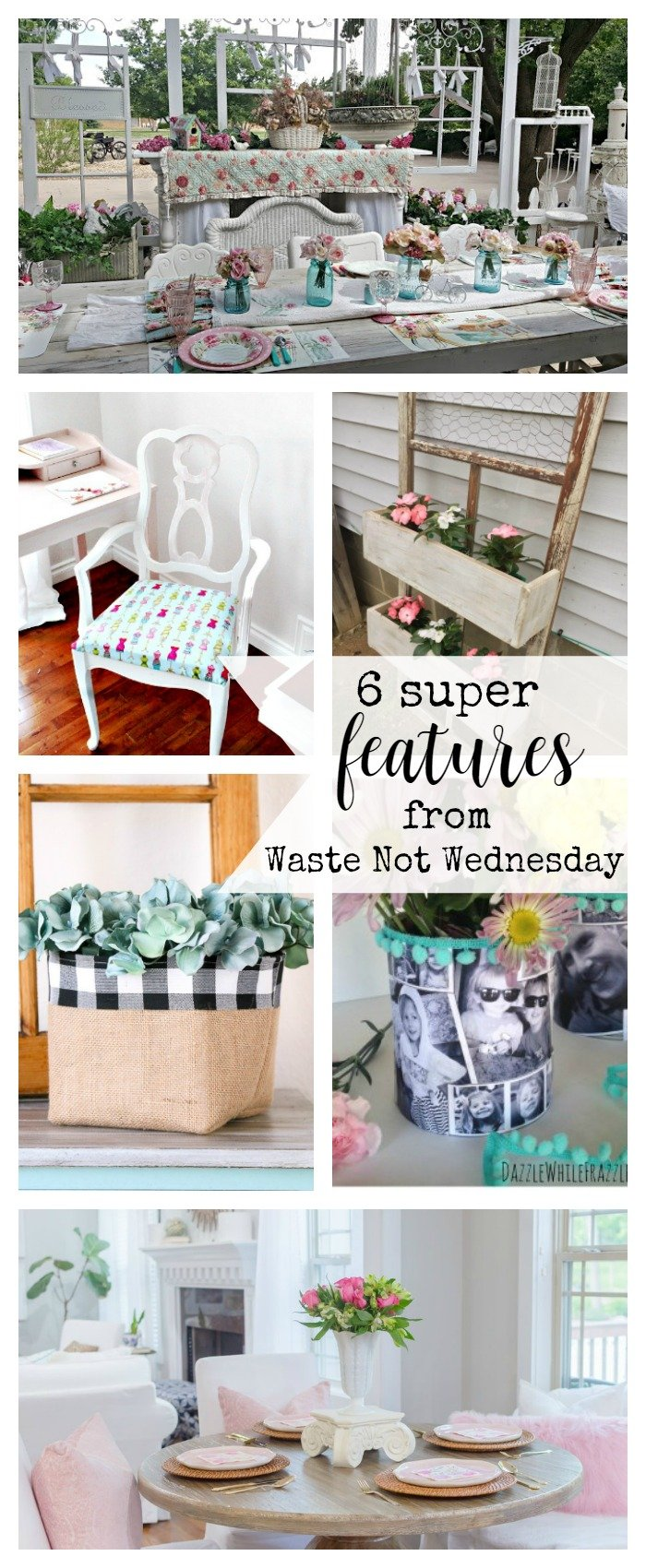 Features from our fun Waste Not Wednesday-50 DIY, Craft, Home Decor and Recipe party this week! Be sure to join us and share your DIY, Craft, Home Decor and favourite recipes! | www.raggedy-bits.com | www.mythriftyhouse.com | www.gratefullyvintage.com | www.salvagesisterandmister.com | www.reinventedkb.com