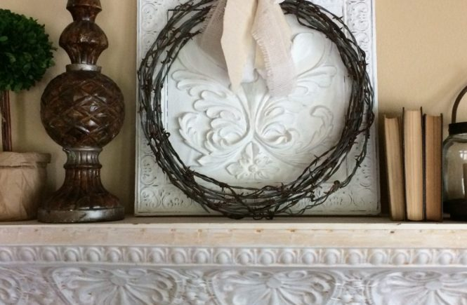 DIY Barbed Wire Wreath which is a feature from Waste Not Wednesday-53 by Country Road 407 | www.raggedy-bits.com