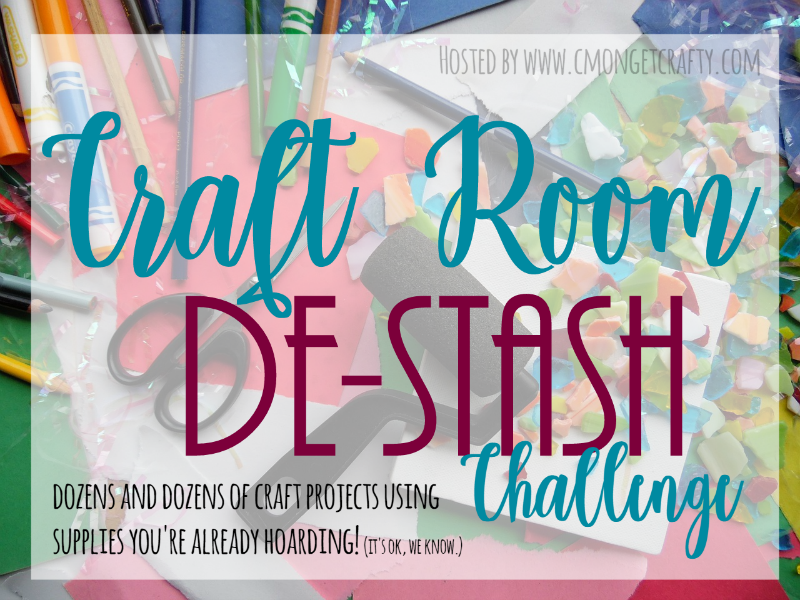 Every month, a group of bloggers challenge each other to create a new craft or project from their own stash of goodies! Check out some awesome creations you might be able to make from your own stash! | www.raggey-bits.com