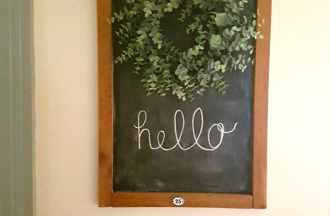 Farmhouse Chalkboard from an old Calendar Holder Raggedy Bits