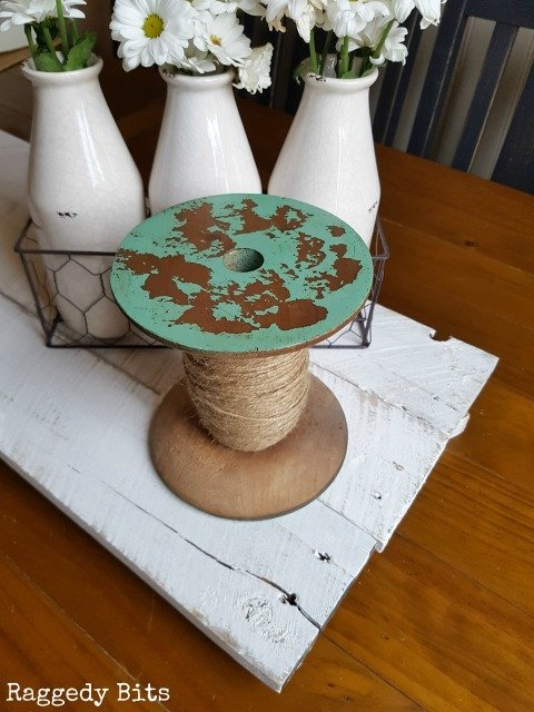 These Large Wooden Spools are sure to add some Farmhouse Vintage Charm to your Vignettes   www.raggedy-bits.com