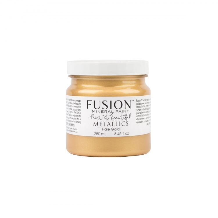 Fusion Mineral Paint 250ml - Metallic Pale Gold | www.raggedy-bits.com