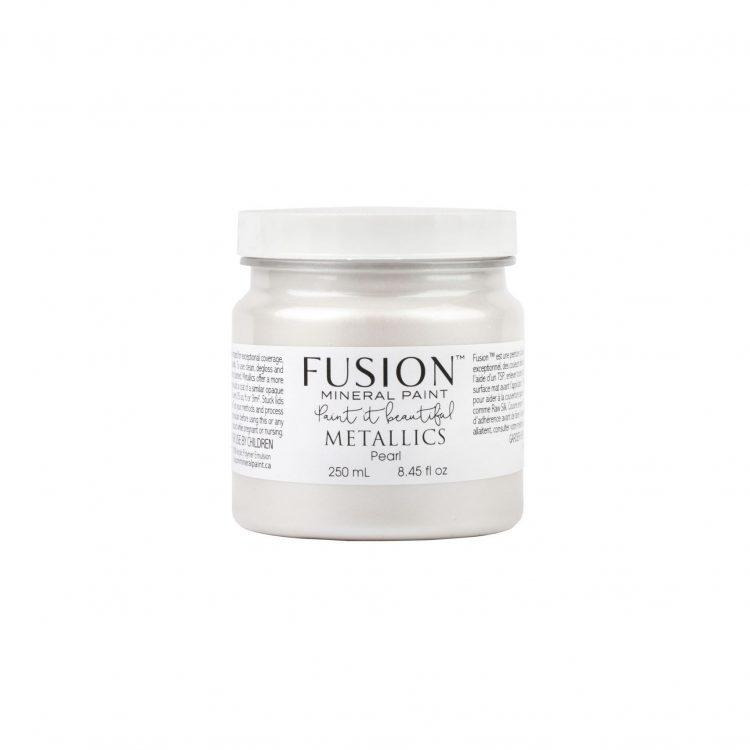 Fusion Mineral Paint 250ml - Metallic Pearl | www.raggedy-bits.com