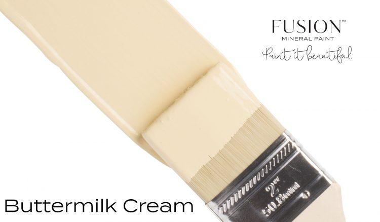 Fusion Mineral Paint Brushstroke - Buttermilk Cream   www.raggedy-bits.com